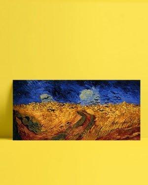 Vincent Van Gogh Champ de blé aux Corbeaux afis al