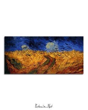 Vincent Van Gogh Champ de blé aux Corbeaux poster al