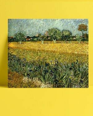 Vincent Van Gogh Champ de fleurs près d'Arles afis al