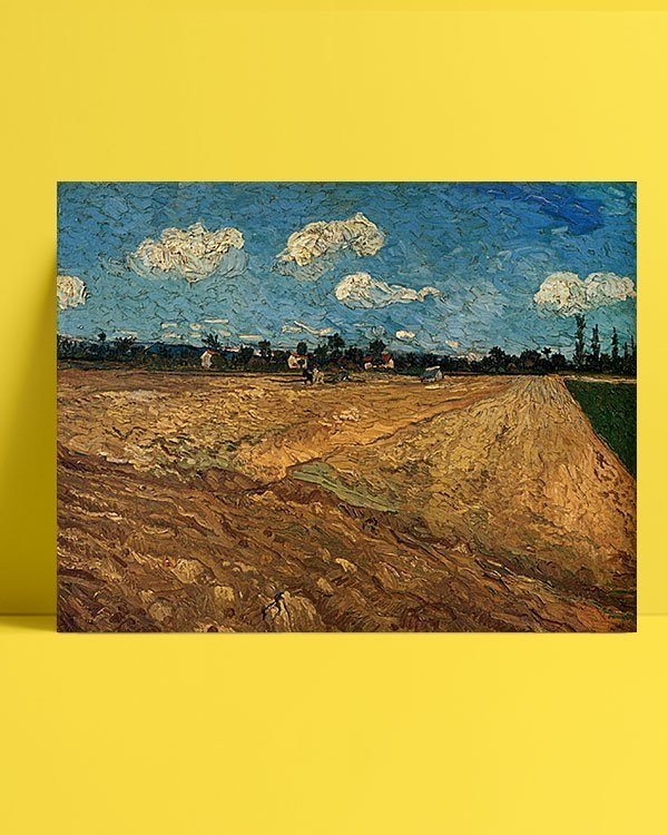 Vincent Van Gogh Champs labourés afis al