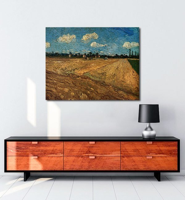 Vincent Van Gogh Champs labourés tablo al