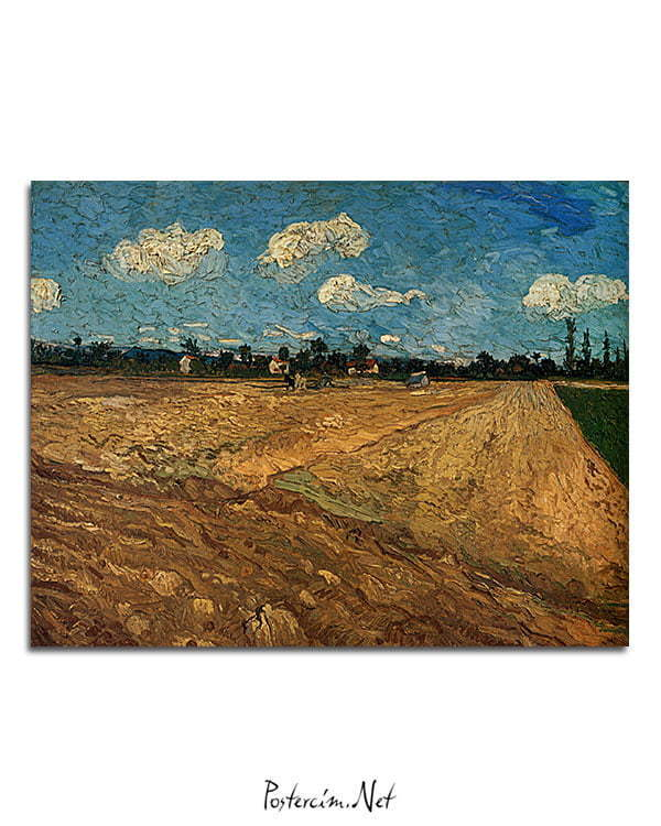 Vincent Van Gogh Champs labourés poster al