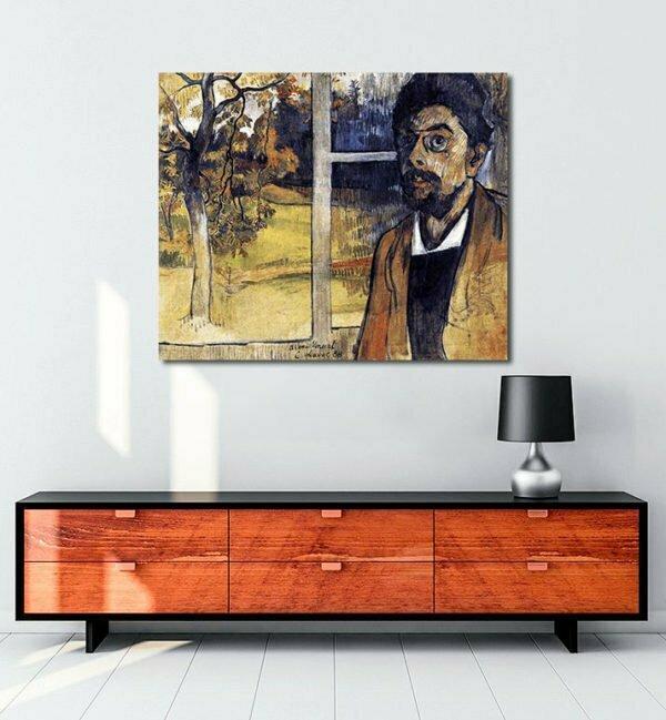 Vincent Van Gogh Charles Laval Self Portrait tablo al