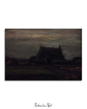 Vincent Van Gogh Chaumière avec tas de tourbe poster al