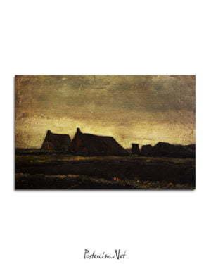 Vincent Van Gogh Chaumières poster al