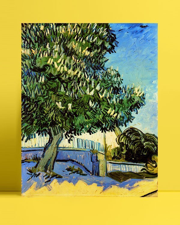 Vincent Van Gogh Chestnut trees in flowers afis al