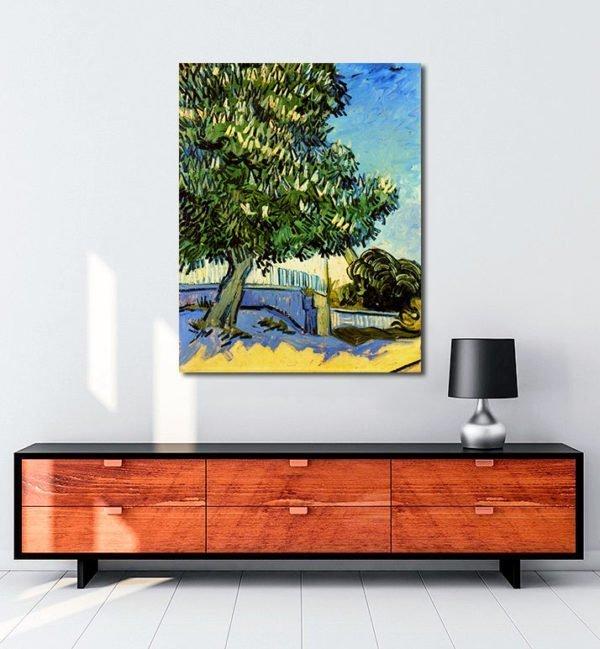 Vincent Van Gogh Chestnut trees in flowers tablo al
