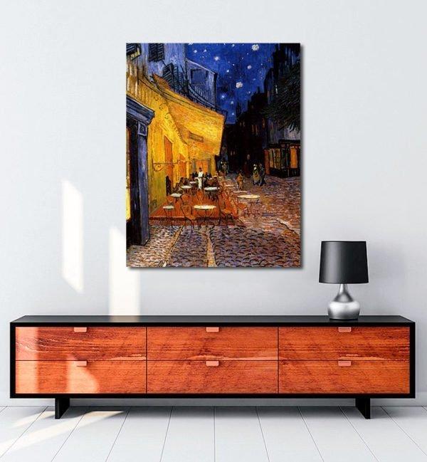 Vincent Van Gogh Coffee of the evening tablo al