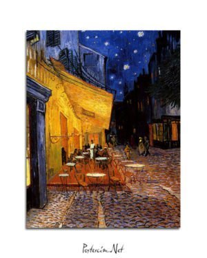 Vincent Van Gogh Coffee of the evening poster al