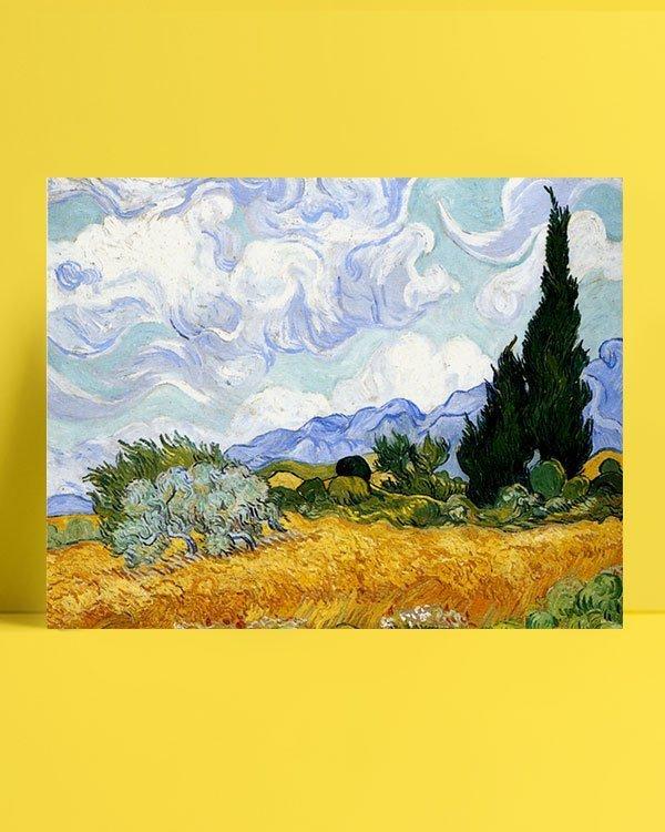 Vincent Van Gogh Corn field and cypress afis al