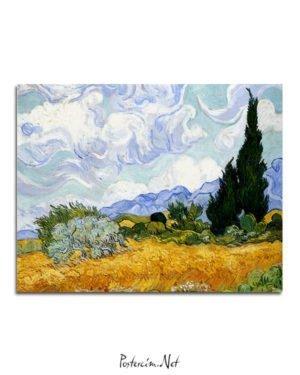 Vincent Van Gogh Corn field and cypress poster al