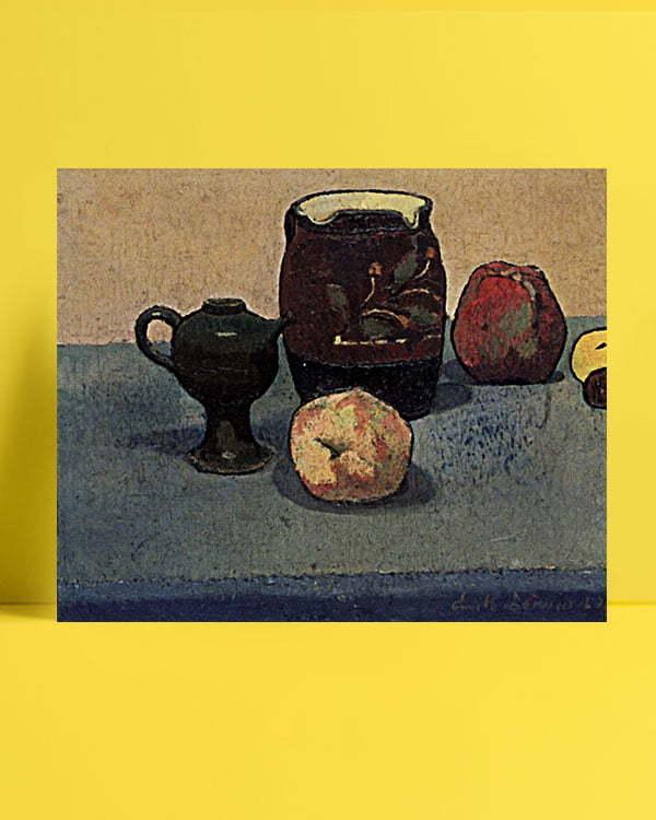 Vincent Van Gogh Emile Bernard Nature morte pot de grès et pomme afis al