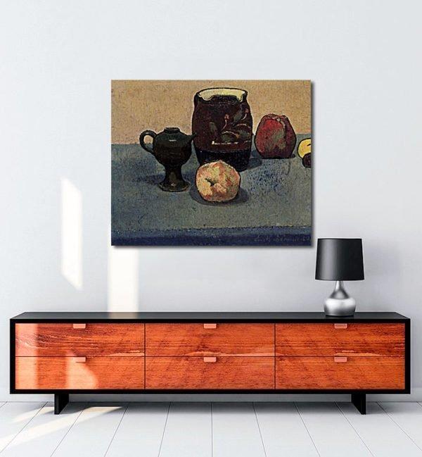 Vincent Van Gogh Emile Bernard Nature morte pot de grès et pomme tablo al