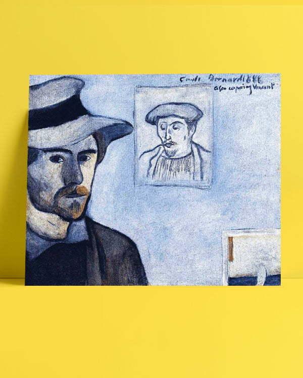 Vincent Van Gogh Emile Bernard Self Portrait with a Portrait of Gauguin Afis al