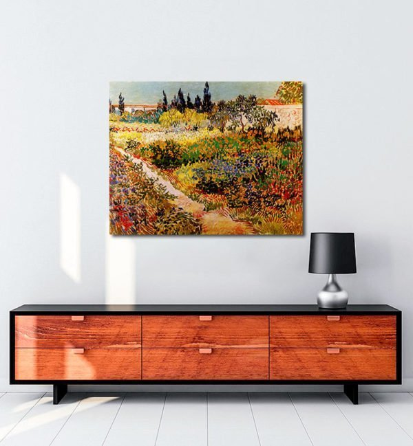 Vincent Van Gogh Enclosure of garden tablo al