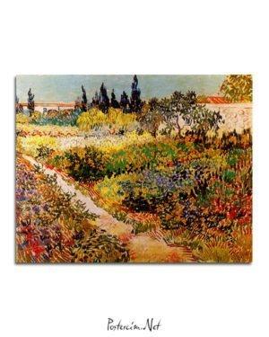 Vincent Van Gogh Enclosure of garden poster al