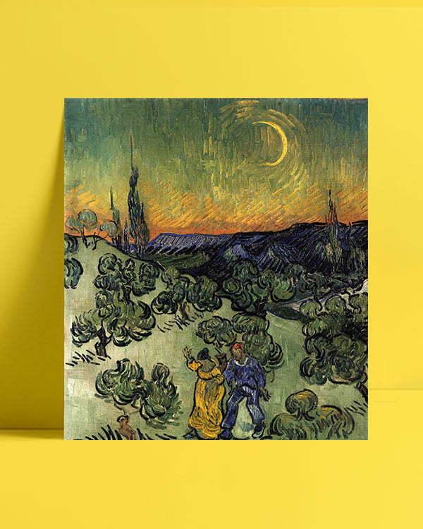 Vincent Van Gogh Evening Promenad afis al