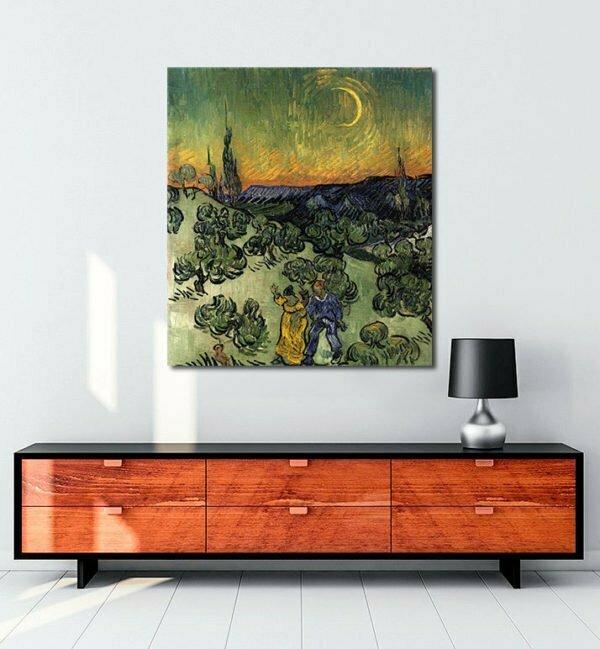 Vincent Van Gogh Evening Promenad tablo al