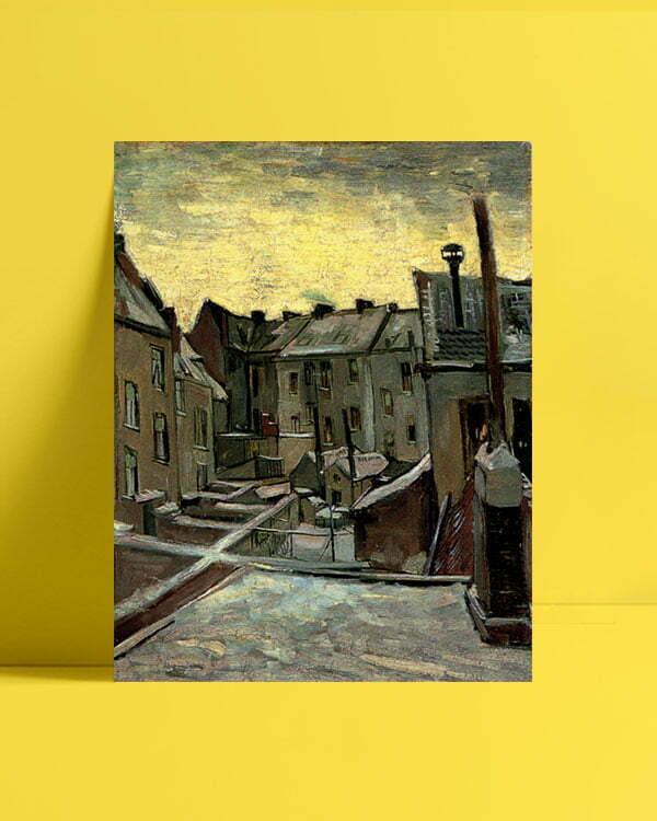 Vincent Van Gogh Façades arrière de vieilles maisons Frontages postpones old houses afis al