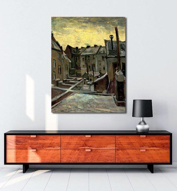 Vincent Van Gogh Façades arrière de vieilles maisons Frontages postpones old houses tablo al