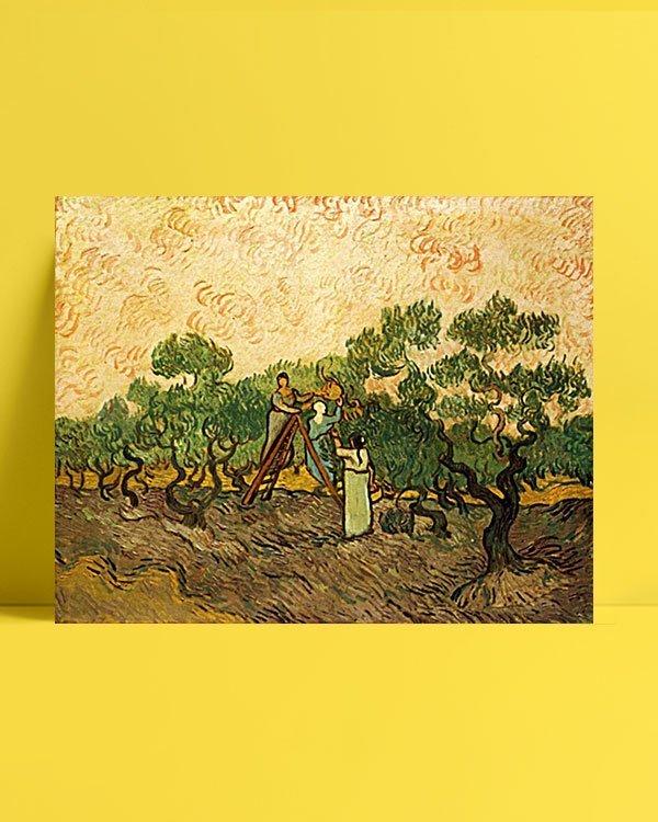 Vincent Van Gogh Femmes récoltant des olives afis al
