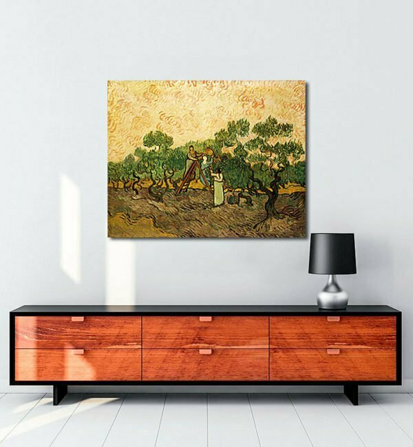 Vincent Van Gogh Femmes récoltant des olives tablo al