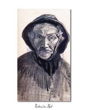 Vincent Van Gogh Fisherman Wearing a Sou'wester poster