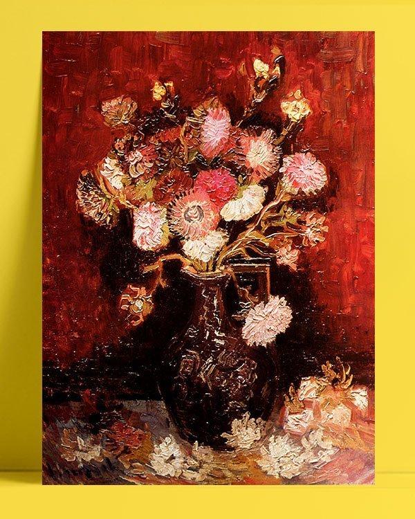 Vincent Van Gogh Flowers aster phlox afis