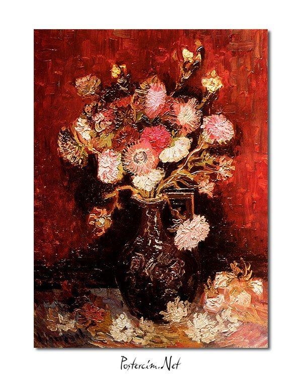 Vincent Van Gogh Flowers aster phlox poster