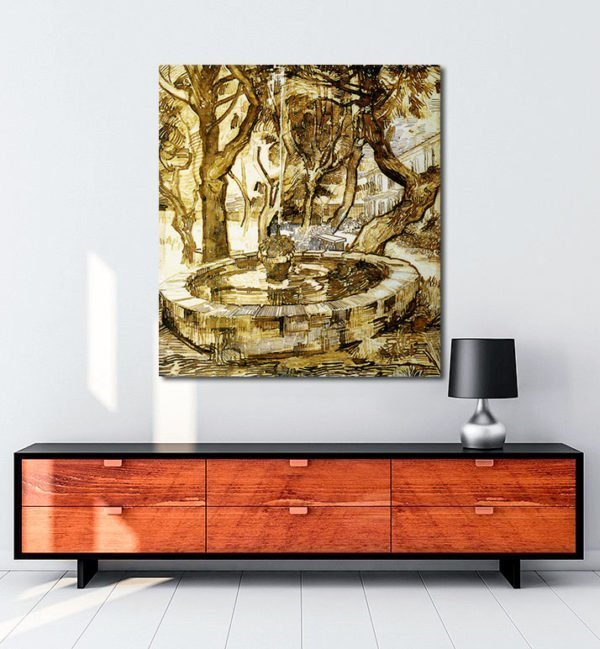 Vincent Van Gogh Fontaine dans le parc tablo