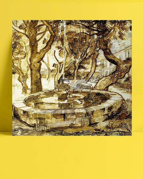 Vincent Van Gogh Fontaine dans le parc afis