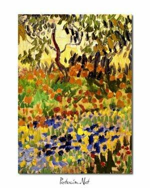 Vincent Van Gogh Garden in flowers poster
