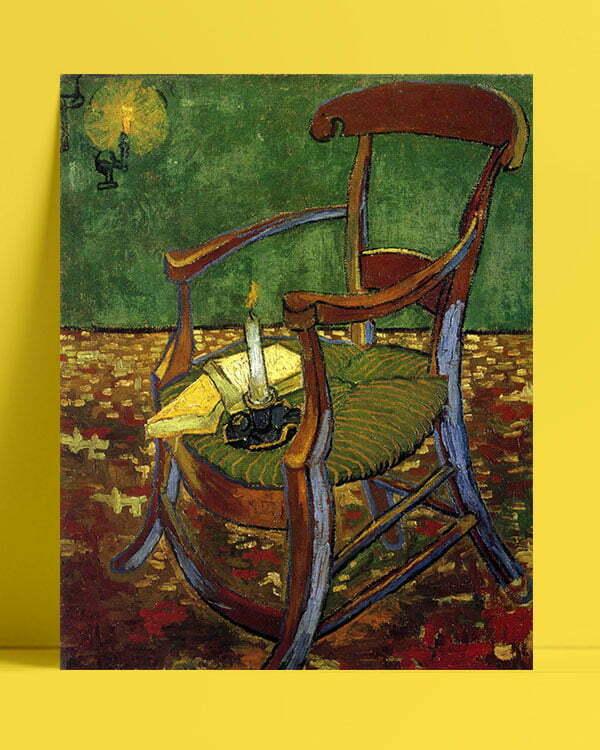 Vincent Van Gogh Gauguin's Arm Chair afis