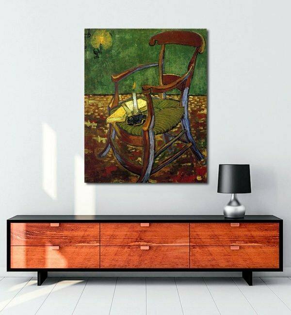 Vincent Van Gogh Gauguin's Arm Chair tablo