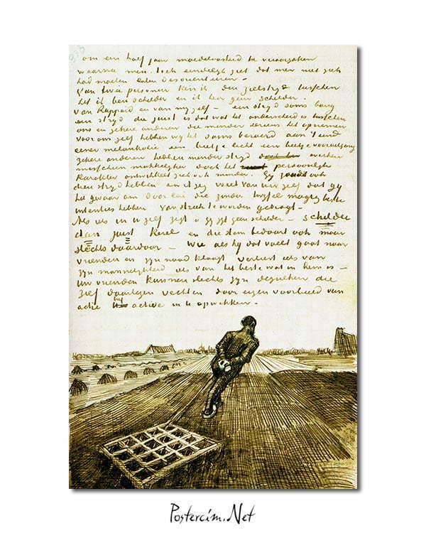 Vincent Van Gogh Harrower poster