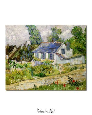 Vincent Van Gogh Houses with Auvers poster