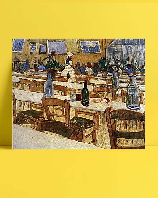 Vincent Van Gogh Intérieur d'un restaurant afis