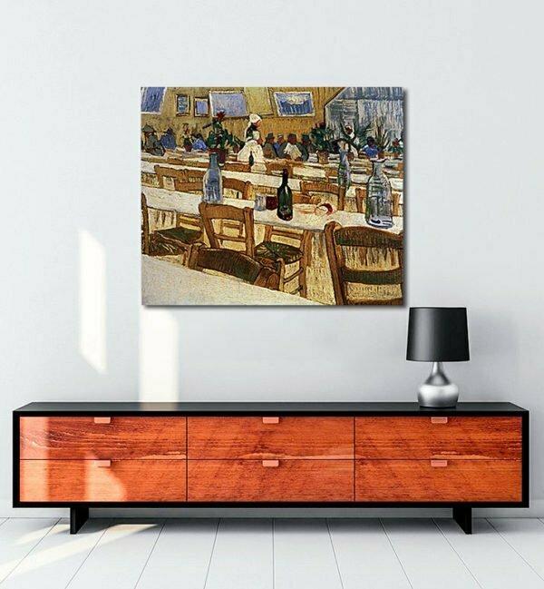 Vincent Van Gogh Intérieur d'un restaurant tablo