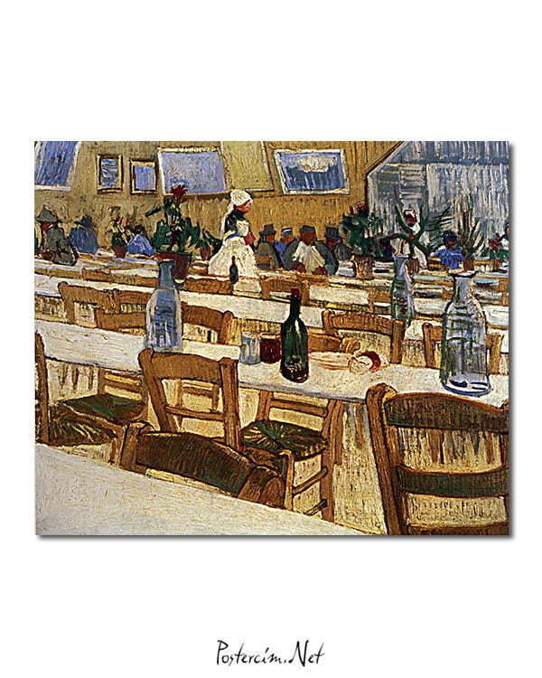 Vincent Van Gogh Intérieur d'un restaurant poster