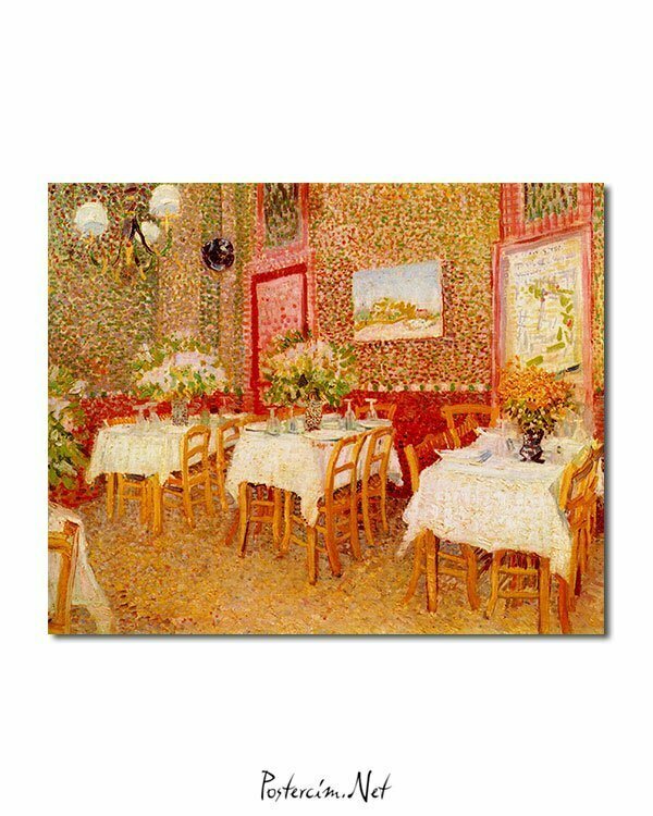 Vincent Van Gogh Interior of restaurant poster