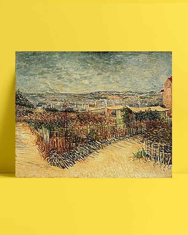 Vincent Van Gogh Jardin à Montmatre afis