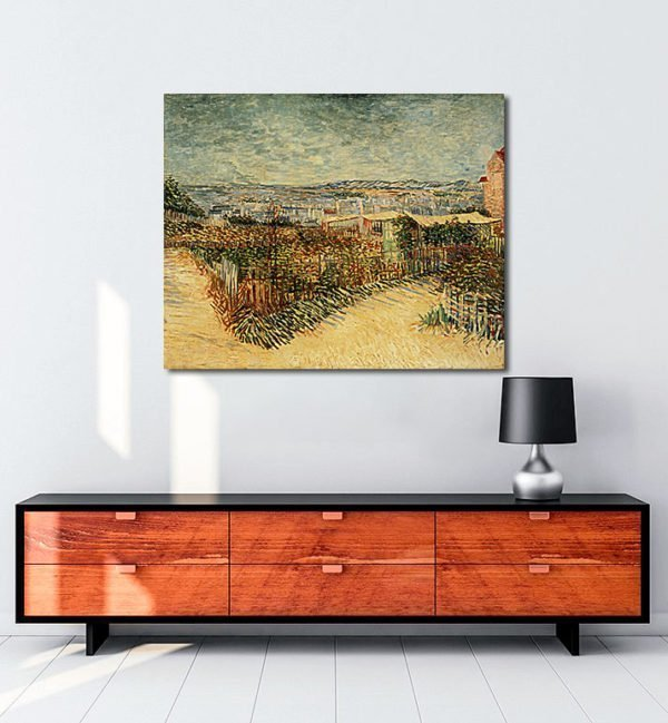 Vincent Van Gogh Jardin à Montmatre tablo