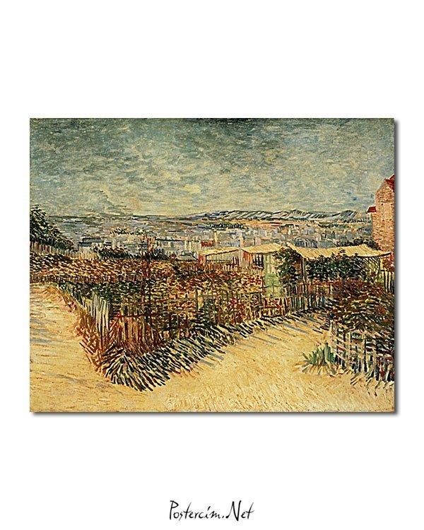 Vincent Van Gogh Jardin à Montmatre poster
