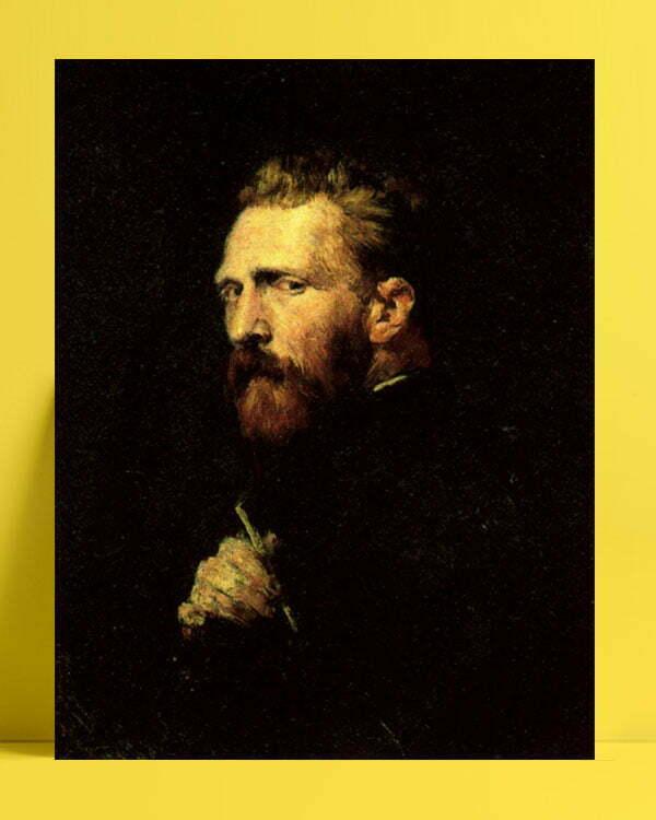 Vincent Van Gogh John Peter Russell Portrait afis