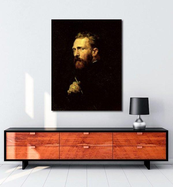 Vincent Van Gogh John Peter Russell Portrait tablo
