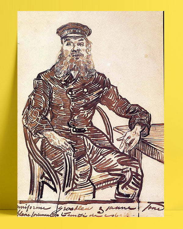 Vincent Van Gogh Joseph Roulin Sitting in a Cane Chair afis