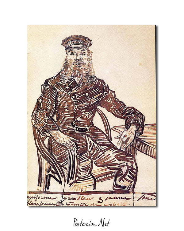 Vincent Van Gogh Joseph Roulin Sitting in a Cane Chair poster