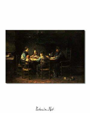 Vincent Van Gogh Jozef Israëls Famille de paysans à table poster