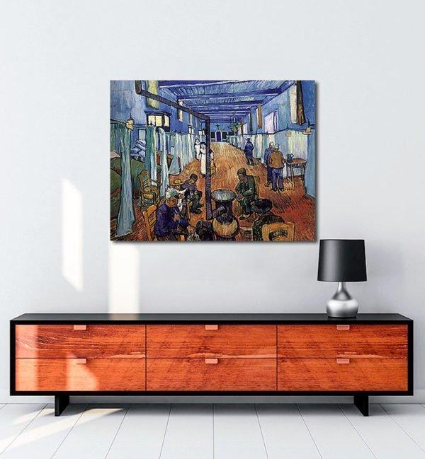 Vincent Van Gogh L'Hôpital d'Arles tablo