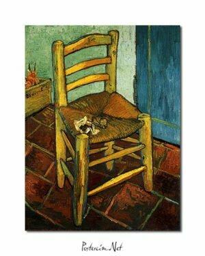 5x7 Vincent Van Gogh La Chaise de poster